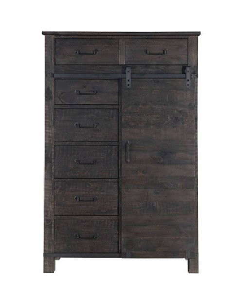 Abington Transitional Weathered Charcoal Wood Door Chest MG-B3804-13