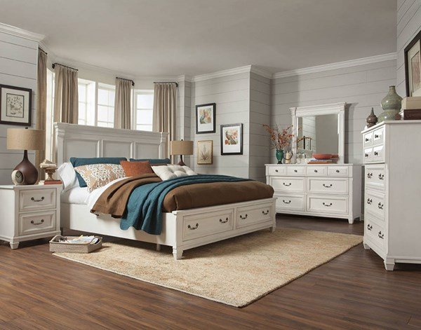 Magnussen Home Brookfield White Master Bedroom Set MG-B4056-BR