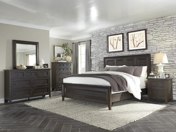 Murray Hill Transitional Chestnut Wood Master Bedroom Set MG-B4072-BR