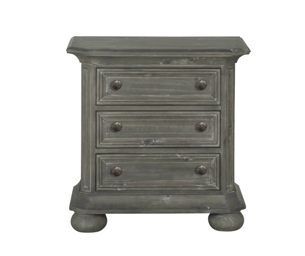 Magnussen Home Cheswick Grey Three Drawer Nightstand MG-B4095-02