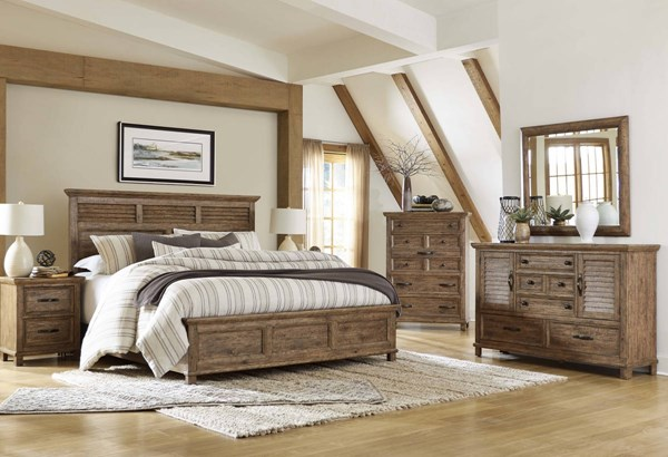 Canyon Road Traditional Hammered Bronze Solid Wood Master Bedroom Set MG-B4122-BR