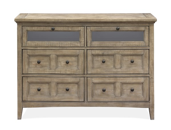 Magnussen Home Paxton Place Dovetail Grey Media Chest MG-B4805-36