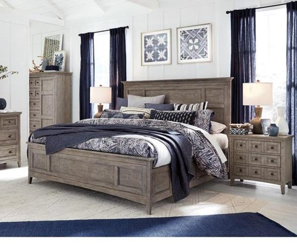 Magnussen Home Paxton Place Dovetail Grey 2pc Bed Set with Queen Panel Bed MG-B4805-S1