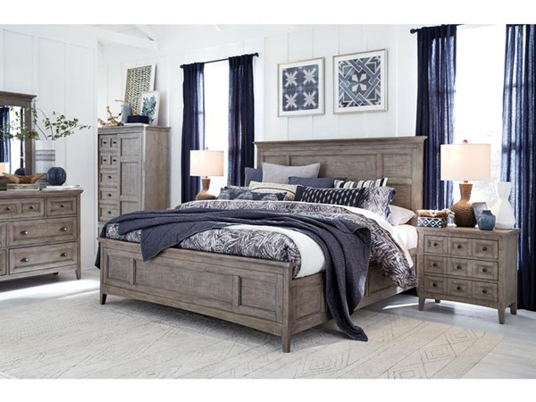 Magnussen Home Paxton Place Dovetail Grey 2pc Bedroom Set with Queen Storage Bed MG-B4805-S3