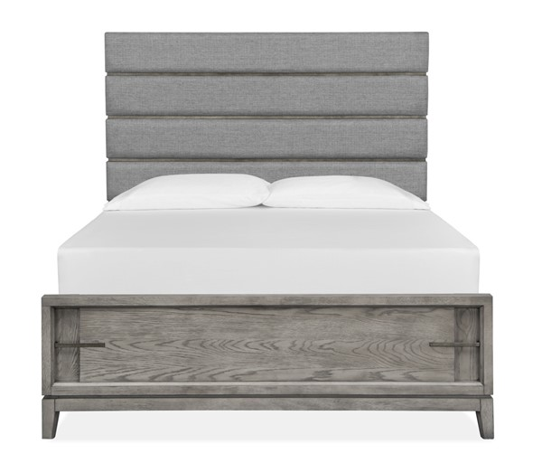 Magnussen Home Serenity Park Cashmere Grey Upholstered Lower Footboard Beds MG-B4876-UBEDS