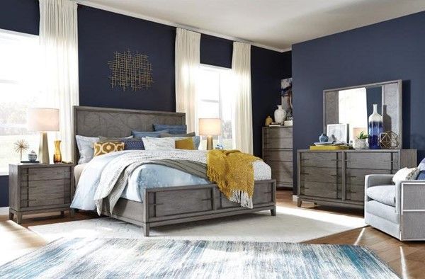 Magnussen Home Serenity Park 2pc Bedroom Set with Queen Pattern Storage Bed MG-B4876-BR-S1