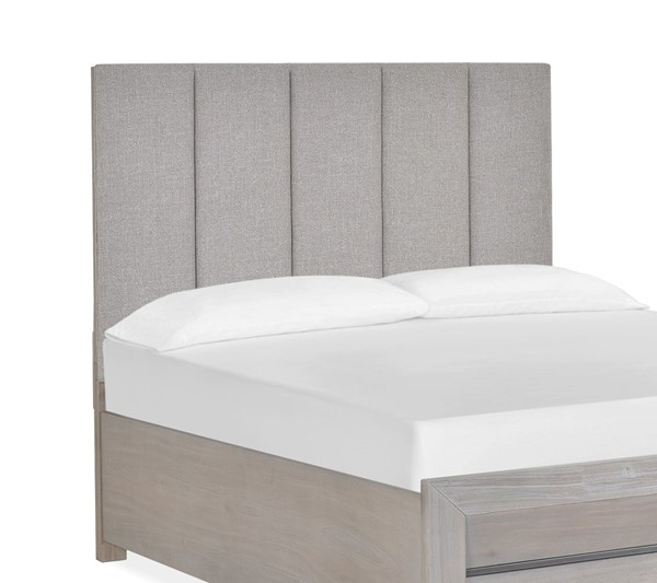 Magnussen Home Palisade Sandblasted Sandstone Queen Island Upholstered Headboard MG-B4994-50H
