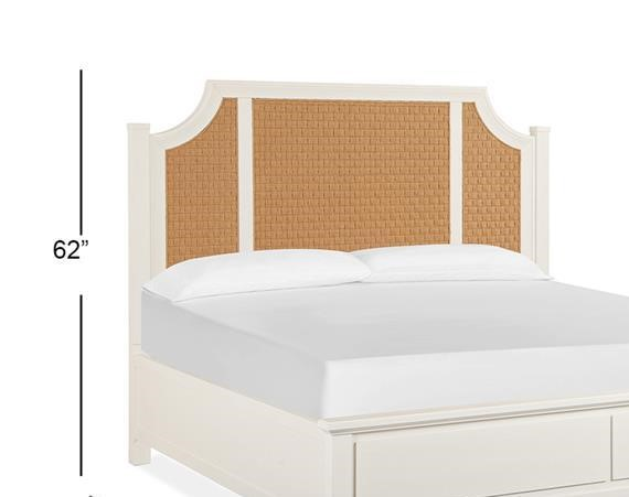 Magnussen Home Lola Bay Seagull White Queen Arched Woven Headboard MG-B5003-57H