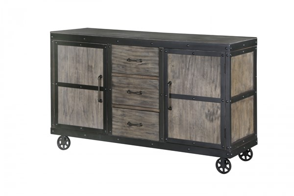 Walton Transitional Natural Wood Server w/Casters MG-D2469-15