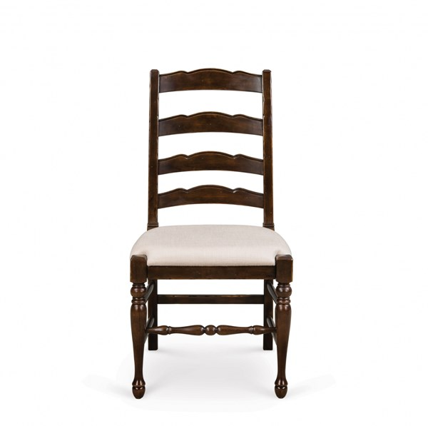 2 Loren Transitional Deep Cherry Wood Dining Chairs w/Upholstered Seat MG-D2470-62