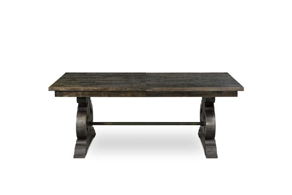 Bellamy Traditional Deep Weathered Pine Wood Rectangular Dining Table MG-D2491-20