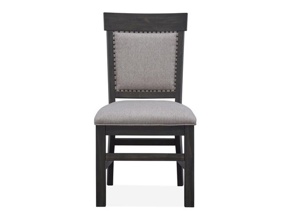 2 Magnussen Home Bellamy Peppercorn Upholstered Dining Side Chairs MG-D2491-64