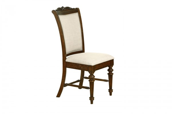 2 Key West Traditional Hardwood Fabric Fully Upholstered Dining Chairs MG-D3069-63
