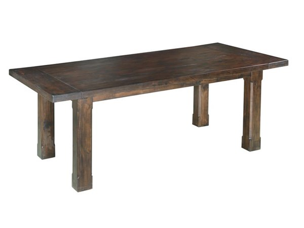 Pine Hill Transitional Rustic Pine Wood Rectangular Dining Table MG-D3561-20