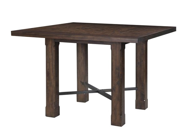 Pine Hill Transitional Rustic Pine Wood Square Counter Table MG-D3561-41