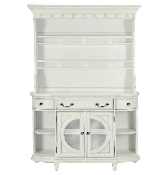 Hancock Park Traditional Oak Vintage White MDF Wood Buffet Hutch MG-D3681-18