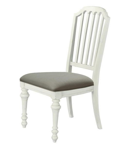 2 Hancock Park Oak White MDF Wood Fabric Upholster Seat Side Chairs MG-D3681-62