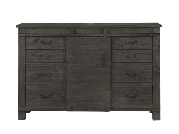 Abington Transitional Weathered Charcoal Wood Server MG-D3804-15