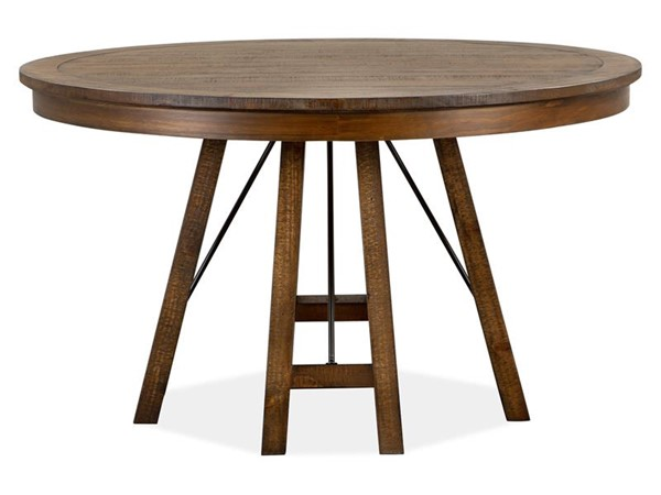 Magnussen Home Bay Creek Toasted Nutmeg 52 Inch Round Dining Table MG-D4398-27