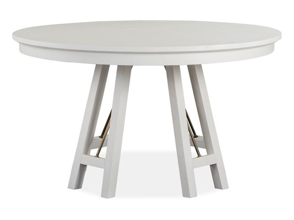 Magnussen Home Heron Cove White 52 Inch Round Dining Table MG-D4400-27