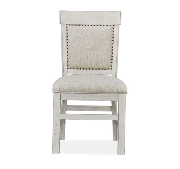 2 Magnussen Home Bronwyn Alabaster Upholstered Dining Side Chairs MG-D4436-63