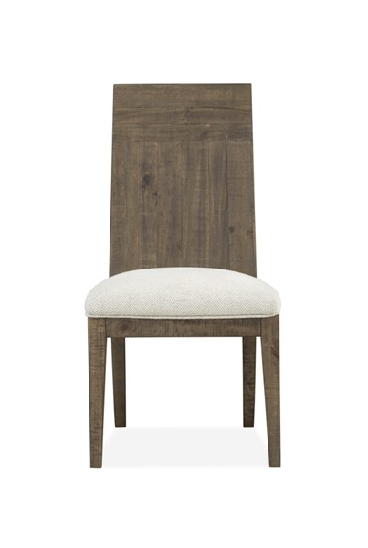 2 Magnussen Home Granada Hills Pebblestone Upholstered Side Chairs MG-D4592-62