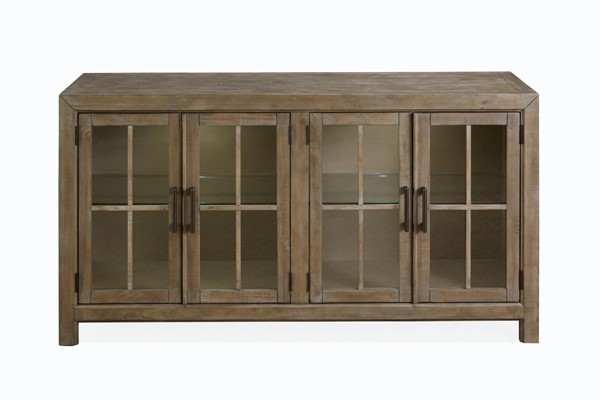 Magnussen Home Tinley Park Dovetail Grey Buffet Curio Cabinet MG-D4646-04