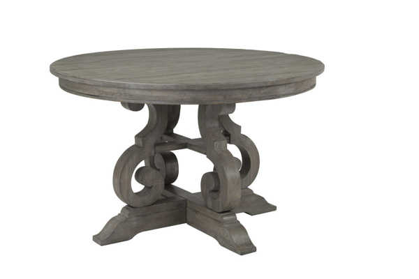 Magnussen Home Tinley Park Dovetail Grey 48 inch Round Dining ...