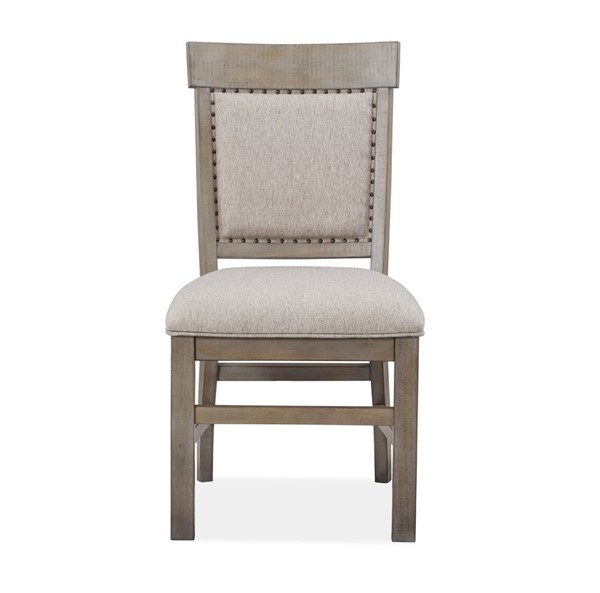 2 Magnussen Home Tinley Park Dove Tail Grey Upholstered Side Chairs MG-D4646-63