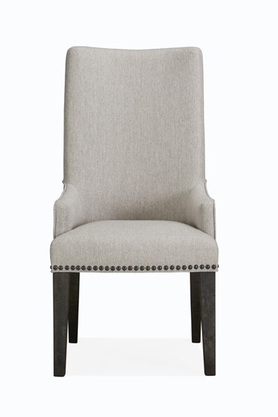 2 Magnussen Home Sloan Peppercorn Host Chairs MG-D4796-63