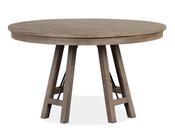 Magnussen Home Paxton Place Dovetail Grey 52 Inch Round Dining Table MG-D4805-27