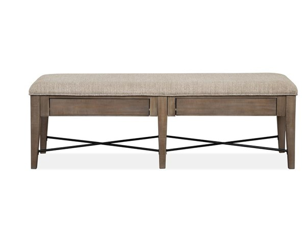Magnussen Home Paxton Place Dovetail Grey Baja Fog Upholstered Bench MG-D4805-68