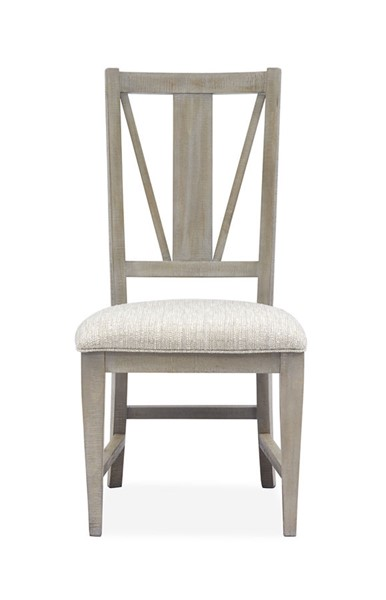 2 Magnussen Home Paxton Place Dovetail Grey Baja Fog Upholstered Side Chairs MG-D4805-62