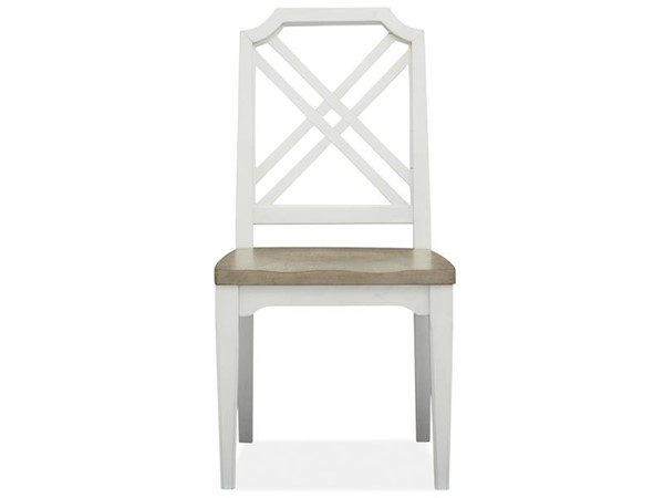 Magnussen Home Alys Beach White Teal Dining Side Chairs MG-D4864-60-DCH-VAR