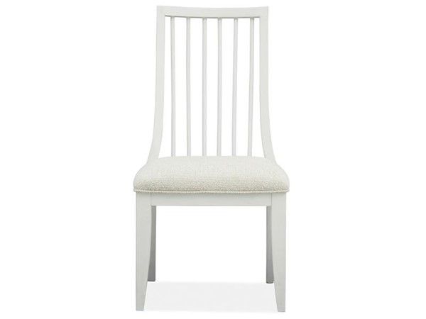 2 Magnussen Home Alys Beach White Upholstered Dining Side Chairs MG-D4864-62W
