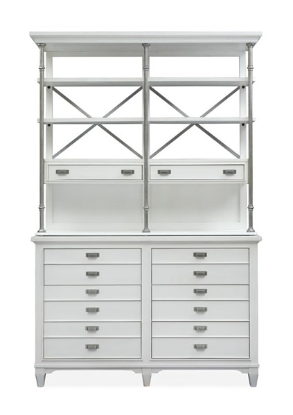 Magnussen Home Alys Beach White Server with Hutch MG-D4864-15HW