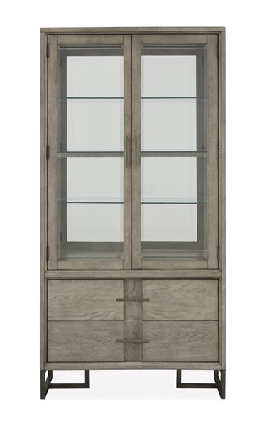 Magnussen Home Serenity Park Cashmere Grey Curio China Cabinet MG-D4876-07