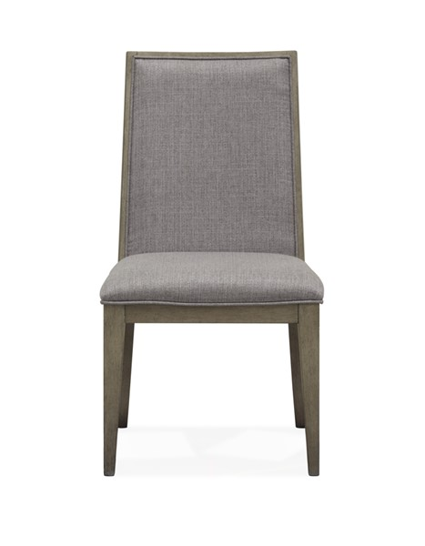 2 Magnussen Home Serenity Park Cashmere Grey Fully Upholstered Dining Side Chairs MG-D4876-63