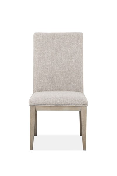 2 Magnussen Home Palisade Sandblasted Sandstone Upholstered Side Chairs MG-D4994-63