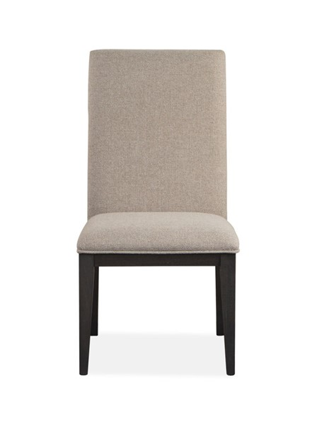 2 Magnussen Home Wentworth Village Oxford Black Fully Upholstered Side Chairs MG-D4995-63