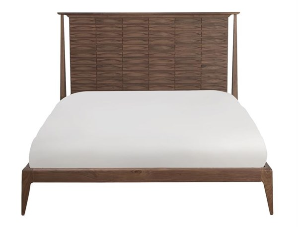 Conrad Modern Walnut Wood Cal King Platform Bed MG-DB-9019-70