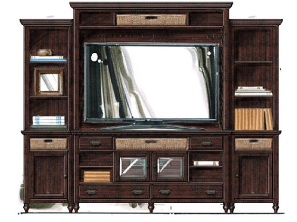 Magnussen Home Cottage Lane Entertainment Center with TV Stand MG-E3521-ENT-S1