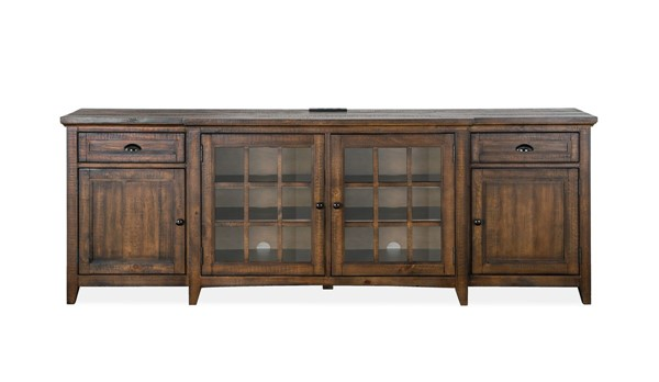 Magnussen Home Bay Creek Toasted Nutmeg 90 Inch Console MG-E4398-09