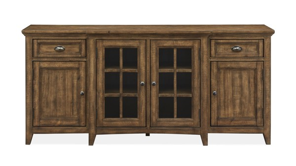 Magnussen Home Bay Creek Toasted Nutmeg 70 Inch Console MG-E4398-05