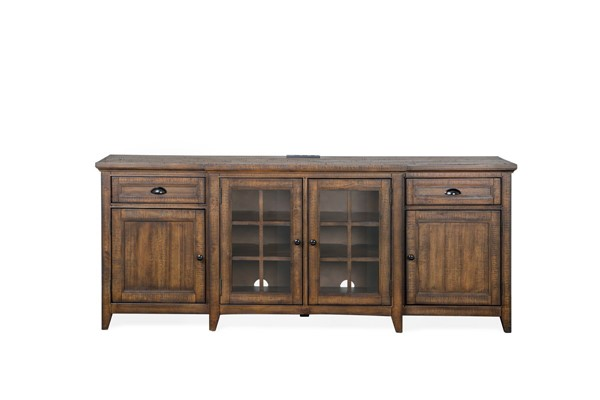 Magnussen Home Bay Creek Toasted Nutmeg 80 Inch Console MG-E4398-08