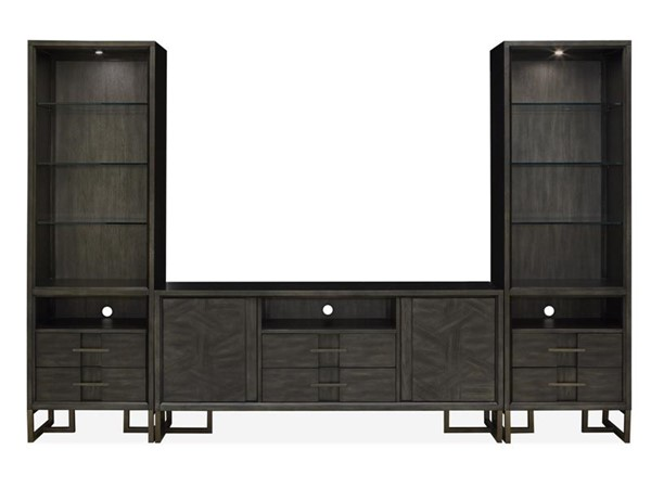 Magnussen Home Proximity Heights Smoke Anthracite Entertainment Center with TV Stand MG-E4450-ENT-S1