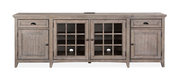 Magnussen Home Paxton Place Dovetail Grey 90 Inch Console MG-E4805-09