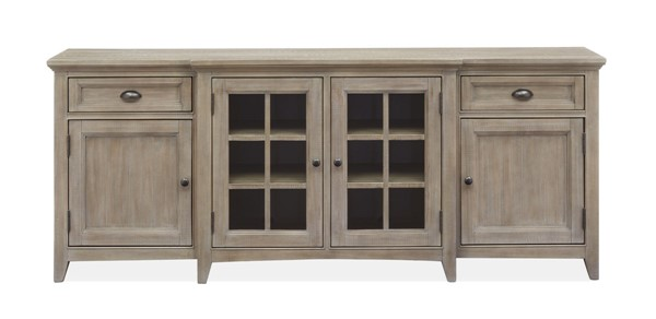 Magnussen Home Paxton Place Dovetail Grey 80 Inch Console MG-E4805-08
