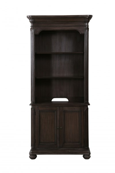 Broughton Hall Traditional Distressed Nutmeg Wood Bookcase MG-H2354-20