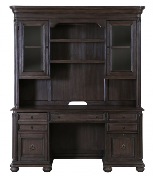 Broughton Hall Traditional Distressed Nutmeg Wood Credenza Hutch MG-H2354-31